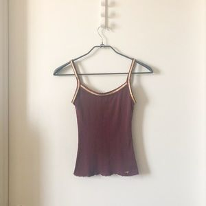 Abercrombie & Fitch maroon tank top